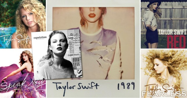 All of the Taylor Swift album covers