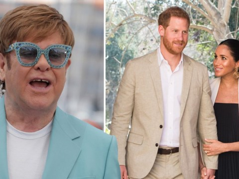 Elton John vehemently defends Prince Harry and Meghan Markle over private jet use as he remembers Princess Diana