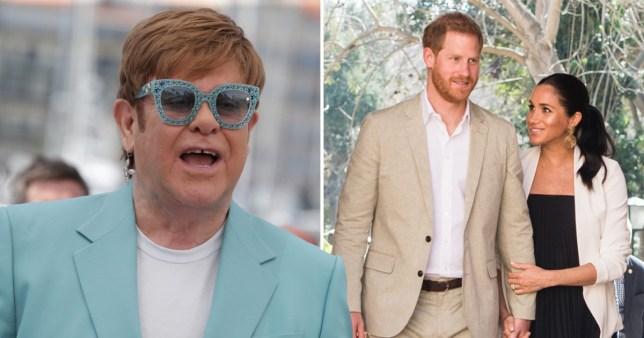 Elton John, Meghan Markle, Prince Harry