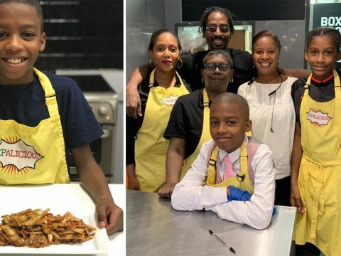 Boy, 11, opens vegan Caribbean pop-up after teaching himself to cook
