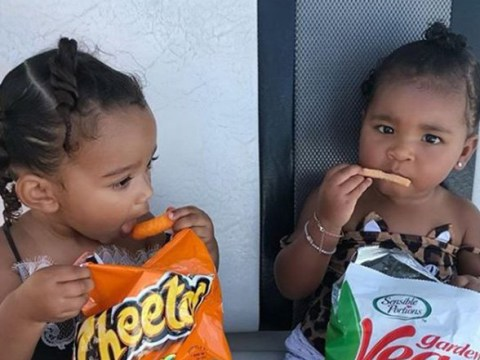 True Thompson and Chicago West are a whole mood as they snub 'calories' to enjoy snacks