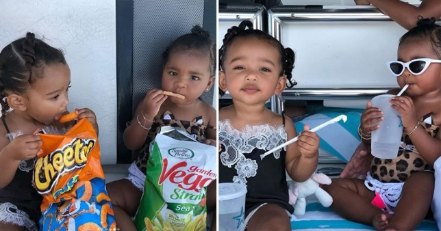 True and Chicago are a whole mood as they snub 'calories' to enjoy snacks