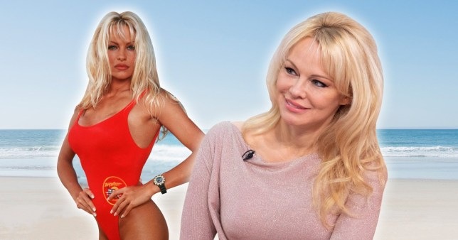 Pamela Anderson in Baywatch swimsuit
