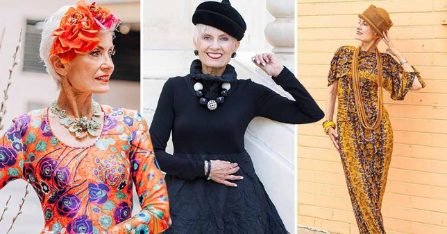 Granfluencer, 76, models at New York Fashion Week and shows older people can be stylish
