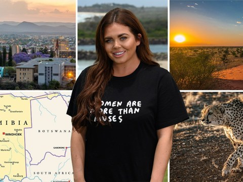 Where is Namibia, the country where Scarlett Moffatt's new TV show is set?