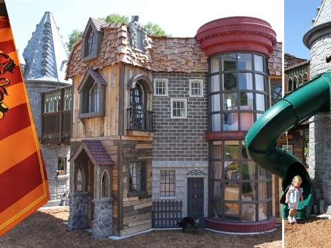 Look inside this magical Harry Potter castle playhouse with its own wand shop