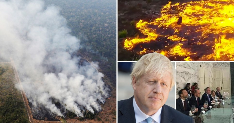 Amazon fires and Boris Johnson