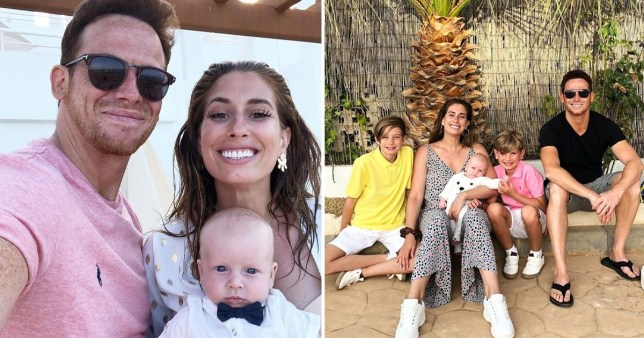 Stacey Solomon Joe Swash and family