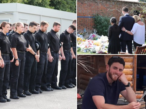 Police officers hold minute's silence in tribute to PC Andrew Harper