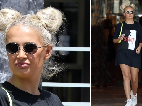 Love Island's Molly-Mae Hague's now got two of her legendary buns at PrettyLittleThing shoot in LA