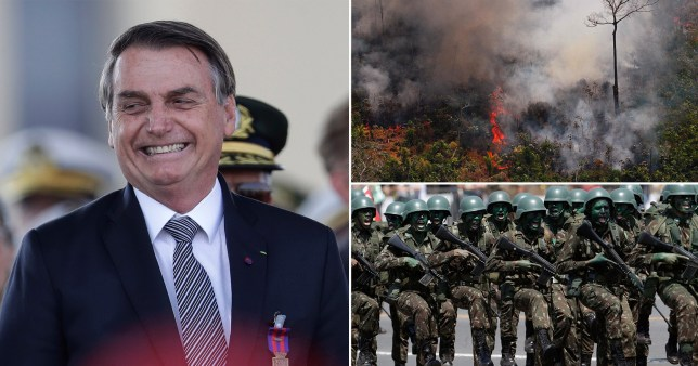 Brazil's president considers sending army in to battle Amazon fires