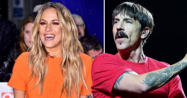 Caroline Flack and Anthony Kiedis