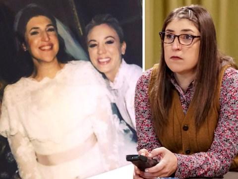 The Big Bang Theory's Mayim Bialik shares wedding throwback with Kaley Cuoco: 'I miss them'