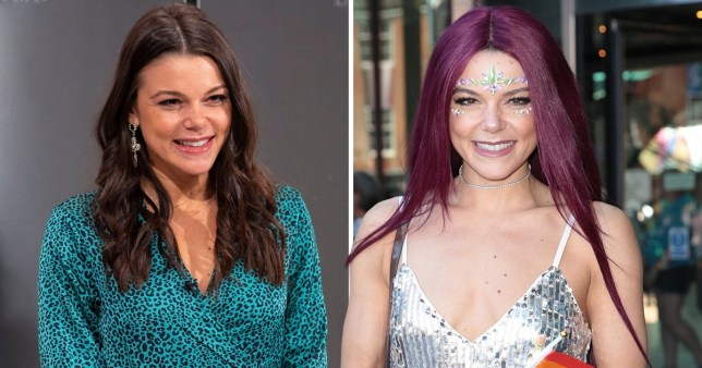 Faye Brookes purple hair