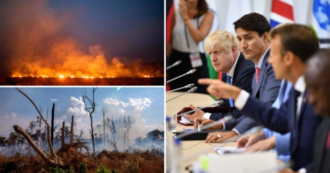 World leaders pledge £18m in emergency funds to tackle Amazon forest fires