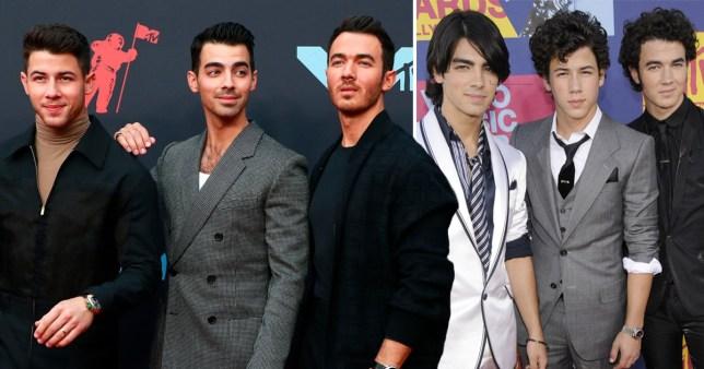 Jonas Brothers Joe, Nick and Kevin