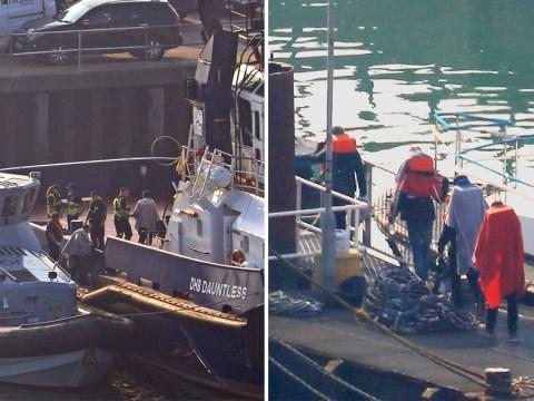 Border guards intercept 20 migrants headed towards Dover in three dinghies
