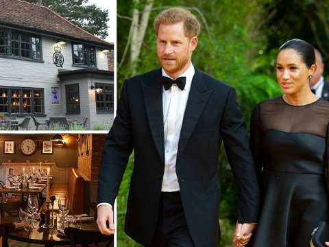 Harry and Meghan show they're down to earth with £15 roast dinner at local pub