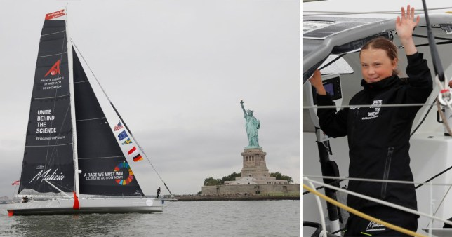 Greta Thunberg sails into New York