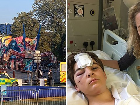 Boy, 12, breaks both legs after falling out of funfair ride