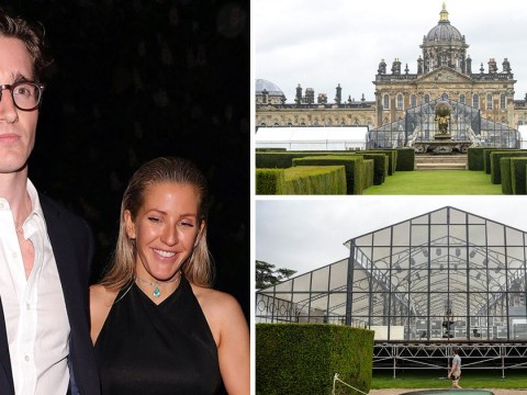 It looks like prep for Ellie Goulding and Caspar Jopling's wedding means the big day is finally close