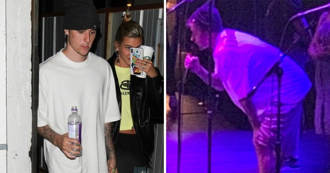 Justin Bieber performs Hillsong with Hailey Baldwin