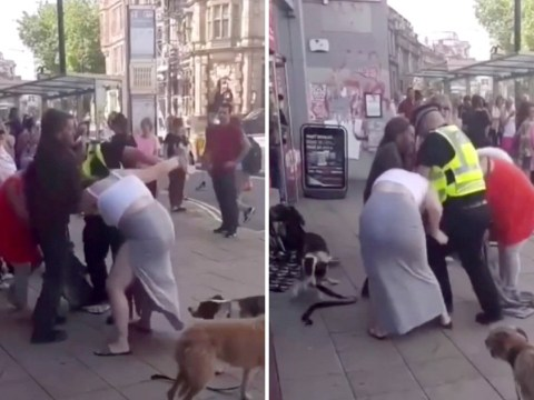 Pregnant woman in street fight with another mum over 'baby daddy'