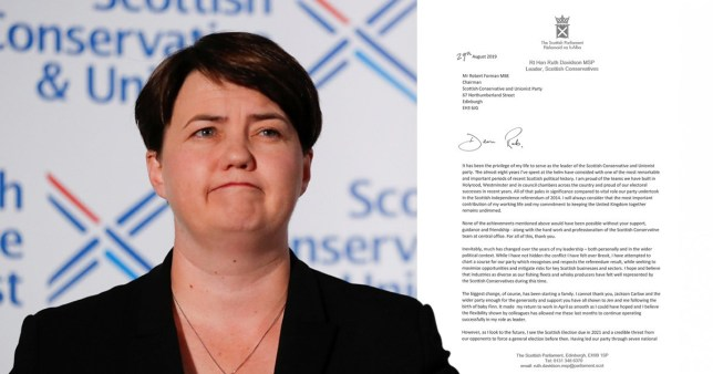 Ruth Davidson quit as Scottish Tory leader today