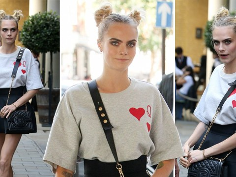 Cara Delevingne is queen of our hearts as she rocks fantasy inspired look ahead of Carnival Row