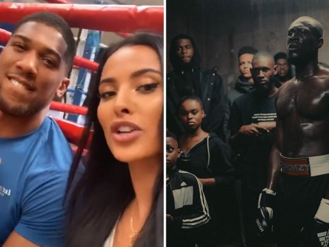 Stormzy looks ready for a fight in the ring as he teases something new after ex Maya Jama poses with Anthony Joshua