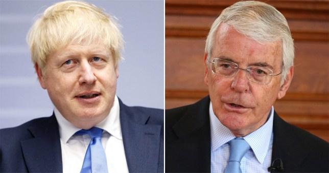 Boris Johnson and John Major