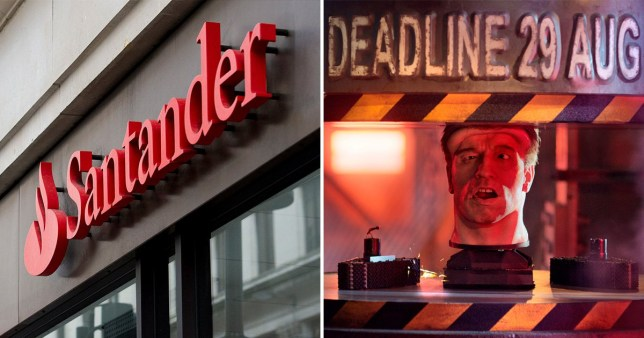 Santander bank and picture of PPI claim deadline campaign