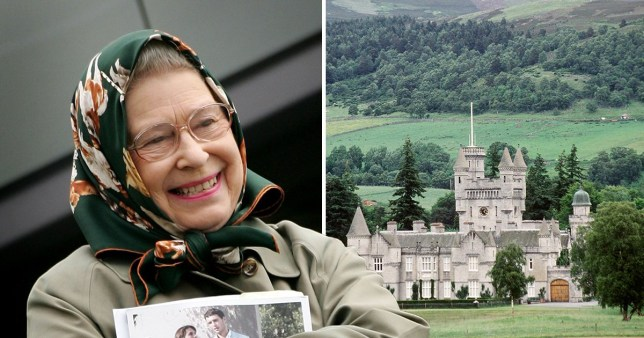 Balmoral estate and the Queen