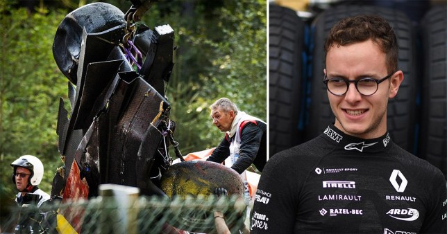 Racer Anthoine Hubert was killed after suffering severe injuries in the crash