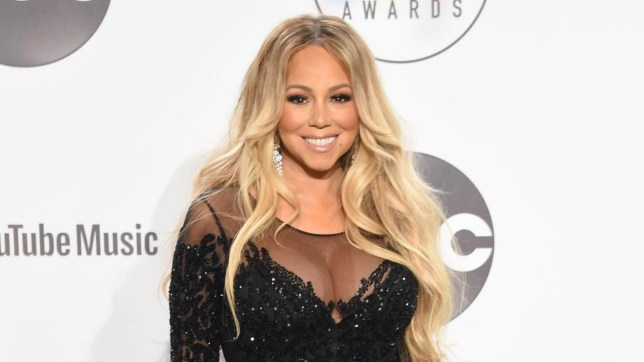 Mandatory Credit: Photo by Jason Merritt/Radarpics/REX (9920172w) Mariah Carey American Music Awards, Press Room, Los Angeles, USA - 09 Oct 2018 WEARING YOUSEF ALJASMI