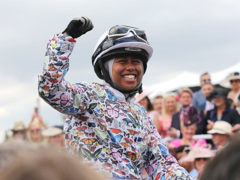 Muslim teenager becomes jockey after sitting on a racehorse for the first time only three months ago