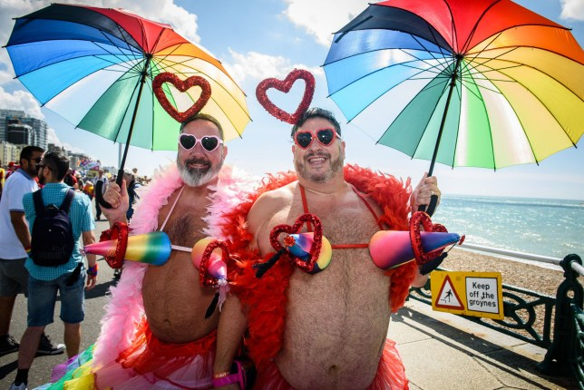 two men at brighton pride