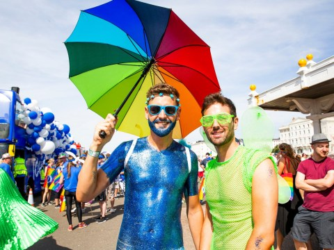 Why has the Brighton Pride parade route changed this year and what time does it start?