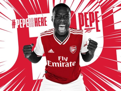 Nicolas Pepe itching to play with Mesut Ozil, Alexandre Lacazette and Pierre-Emerick Aubameyang after completing Arsenal transfer
