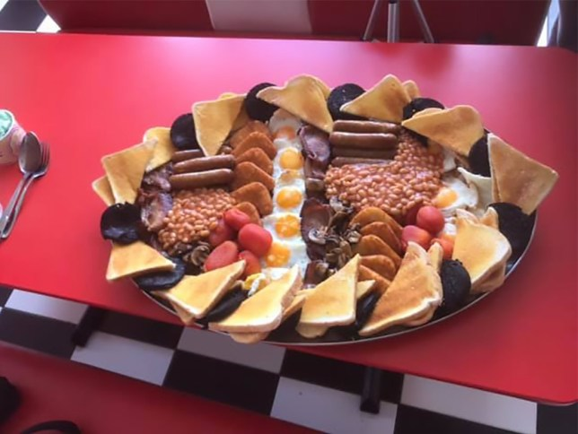 Shepherd's Place Farm creates the World's biggest English breakfast, the Terminator 3, with 135 items