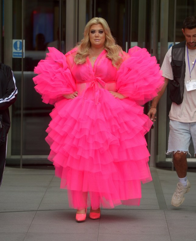 TOWIE star Gemma Collins Seen Filming New BBC Podcast at Broadcasting House in London 2nd Aug 2019. Pictured: Gemma Collins Ref: SPL5107233 020819 NON-EXCLUSIVE Picture by: Timmie / SplashNews.com Splash News and Pictures Los Angeles: 310-821-2666 New York: 212-619-2666 London: 0207 644 7656 Milan: +39 02 56567623 photodesk@splashnews.com World Rights,