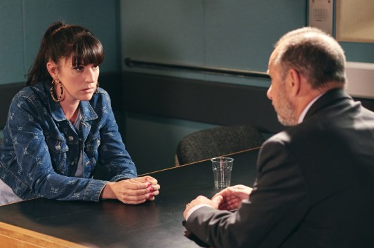 STRICT EMBARGO Print media - No Use Before Tuesday 30th July 2019 Online Media - No Use Before 0700hrs Tuesday 30th July 2019 Emmerdale - Ep 8557 Tuesday 6th August 2019 - 1st Ep A guilty Kerry Wyatt [LAURA NORTON] is called down to the police station and is questioned. Kerry, is caught out when DI Goldberg find a hole in her story and feeling the pressure of the questioning, a tense Kerry soon implicates another whilst covering her own tracks. Picture contact - David.crook@itv.com Photographer - Amy Brammall This photograph is (C) ITV Plc and can only be reproduced for editorial purposes directly in connection with the programme or event mentioned above, or ITV plc. Once made available by ITV plc Picture Desk, this photograph can be reproduced once only up until the transmission [TX] date and no reproduction fee will be charged. Any subsequent usage may incur a fee. This photograph must not be manipulated [excluding basic cropping] in a manner which alters the visual appearance of the person photographed deemed detrimental or inappropriate by ITV plc Picture Desk. This photograph must not be syndicated to any other company, publication or website, or permanently archived, without the express written permission of ITV Picture Desk. Full Terms and conditions are available on www.itv.com/presscentre/itvpictures/terms