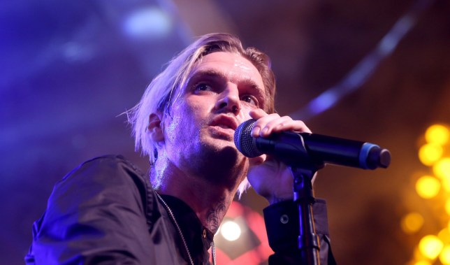 Aaron Carter performing