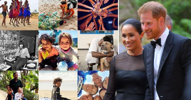 The royal couple and the instagram post of charity pictures