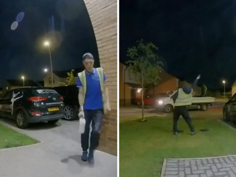Milkman caught on CCTV dancing for his neighbours