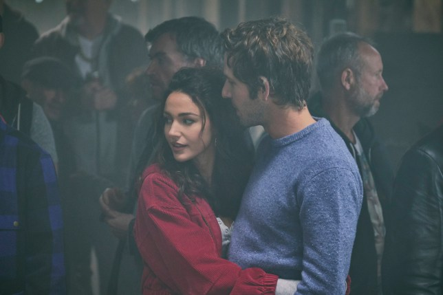 Damien Molony and Michelle Keegan in Brassic