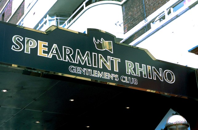 Mandatory Credit: Photo by Nils Jorgensen/REX (379180c) SPEARMINT RHINO CLUB EXTERIOR OF SPEARMINT RHINO CLUB TOTTENHAM COURT ROAD, LONDON, BRITAIN - 26 MAR 2002