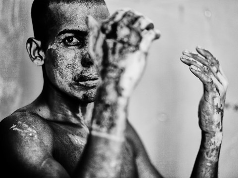 Black and white pictures show the harrowing stories of the Rohingya people