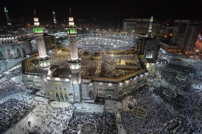 Muslim pilgrims gather at the Grand Mosque in Saudi Arabia's holy city of Mecca