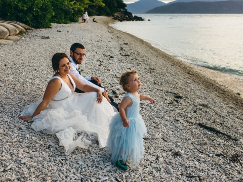 Mum lets son wear dress to her wedding so he always feels free to do what he wants